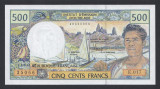 A4050 French Pacific Territories Teritoriile Franceze Pacifice 500 francs UNC