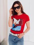 Cumpara ieftin Tricou femei SLR005 - rosu, S, XL