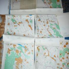 Set 25 Harti Cadastrale Judet.Botosani ,dim.=51x43cm buc. ,proiectie'70 ,ed.1978