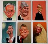 SET / LOT 6 calendare 2016 cu caricaturi ale unor persoane publice cunoscute **