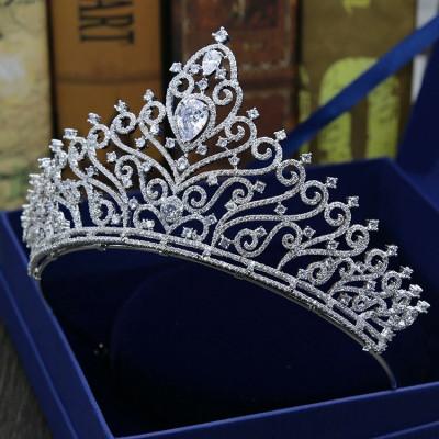 Diadema / coroana / tiara mireasa cu cristale tip Swarovski foto