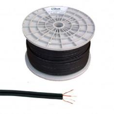 Rola cablu 2 x RCA, 4 mm, Negru