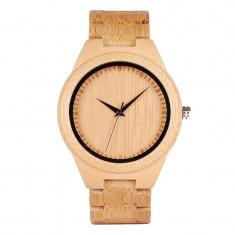 Ceas din lemn Bobo Bird cu curea din lemn, D19 Wooden Lux