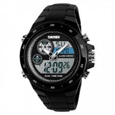 Ceas Barbatesc SKMEI CS905, curea silicon, digital watch, Functii- alarma, ora, data, cadran luminat, rezistent 3ATM