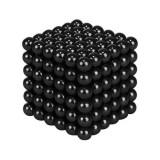 Joc Puzzle Antistres NeoCube cu Bile Magnetice 216 Bucati, Diametru Bile 5mm, negru
