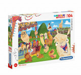 Cumpara ieftin Puzzle Super Color Lama, 104 piese, Clementoni