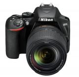 Aparat Foto D-SLR Nikon D3500, 24MP CMOS, Filmare Full HD + obiectiv AF-P DX 18–55 VR + obiectiv AF-S DX 18-140 VR (Negru)