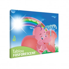 Tablou fosforescent Elefantel