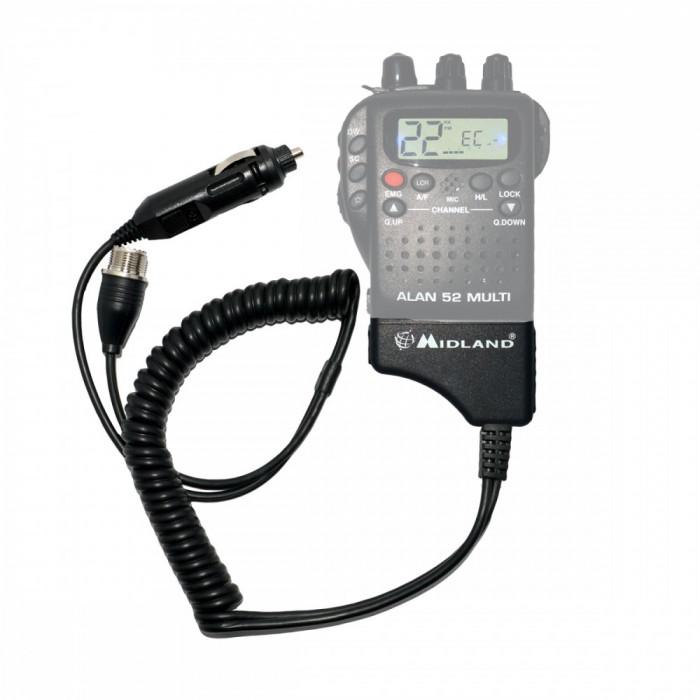 Resigilat : Adaptor Midland pentru alimentare 12V si antena exterioara pentru Alan
