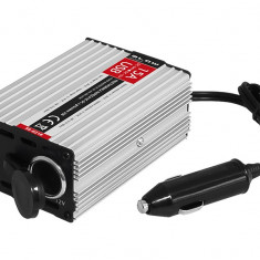 Invertor - Convertor Auto de la 24V la 12V 15A cu port USB, Transformator Curent