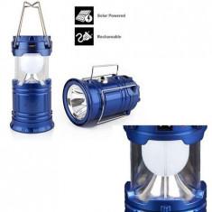 Lanterna pliabila ,felinar,incarcare solara iesire USB, 14x10 cm.