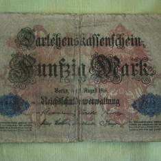 50 Mark / Marci 1914 GERMANIA - Lot de 2 Bucati / 1