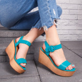 Sandale dama cu platforma verzi Gialis