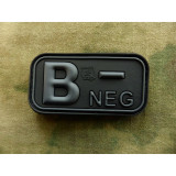 "Patch Bloodtype ""B NEG"" cauciuc, Blackops JTG"