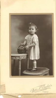 Fotografie veche cu copil din Franța foto