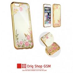 Husa Silicon DIAMOND Flower Samsung A705 Galaxy A70 Gold