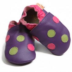 Pantofi cu talpa moale Liliputi Polka Dots Purple