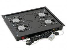 """Panou ventilatie Triton pentru rack de podea 19"""", 4 ventilatoare foto"""