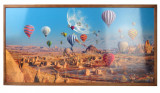 Tablou Cu Ceas Inramat 50X100 Cm Baloon,