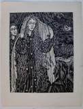 """"""" DIVINA COMEDIE """" , LOT DE 18 GRAVURI PE LEMN - autor SZABO BELA"""