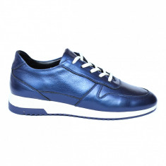 Pantofi dama din piele naturala, Naty, Peter, Albastru, 35 EU