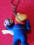 Breloc fotbal - Mascota-Campionatul Mondial de Fotbal-FRANTA 1998