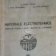 Materiale electrotehnice. Indrumar pentru lucrari practice de laborator