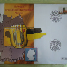 Cartela Telefonica + FDC Germania Munchen - Exponat Numerotat