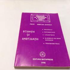 ECUATII SI INECUATII  MIRCEA GANGA-RF10/2