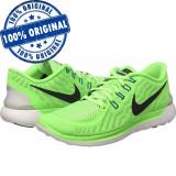 Pantofi sport Nike Free 5.0 pentru femei - adidasi originali - alergare, 36.5, 38, 38.5, 39, Verde, Textil