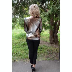 Bluza eleganta, rafinata, masura mare, material lucios auriu