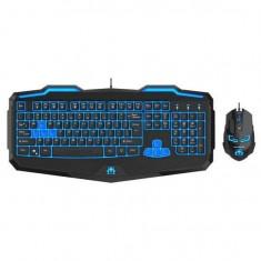 Kit tastatura si mouse gaming Newmen 808 negru Open Box