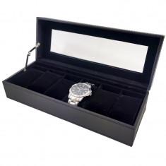 Cutie depozitare si organizare 6 ceasuri neagra WZ984