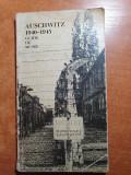Auschwitz 1940-1945 - ghidul muzeului din anul 1972 - contine harta