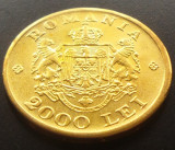 Moneda ISTORICA 2000 LEI - ROMANIA REGAT, anul 1946  *cod 3911 - SUFLATA CU AUR