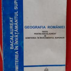 Geografia Romaniei Teste pentru bacalaureat si admitere in invatamantul superior