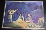 6 planse Ilustratii pt povestirile educatoarei Sabia de foc - A. Mitru 1984