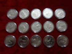 Set Turcia 15 Monezi Tematică 2018 - Pasarile Endemice ale Anatoliei foto