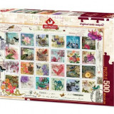 Puzzle Heidi 500 Stamp collage - LORNA FINCHLEY