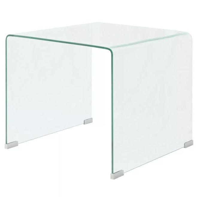 Măsuță cafea, sticlă securizată 49,5 x 50 x 45 cm, transparentă