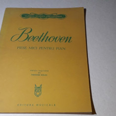 Partitura Beethoven - Piese mici pentru pian