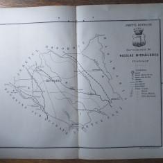 JUDETUL BOTOSANI  // HARTA CROMOLITOGRAFIATA, 1904