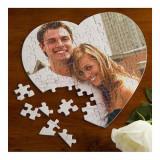 Puzzle inima personalizat cu poza si sau mesaj