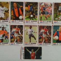 Lot 11 cartonașe fotbal - EURO 2000 - jucători din Olanda (Seedorf, Bergkamp)
