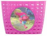 Cos de bicicleta pentru copii Punky, material plastic, culoare rozPB Cod:99084