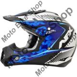 MBS Casca motocross AFX FX-17 Factor, XXL, negru/albastru/alb, Cod Produs: 01104545PE
