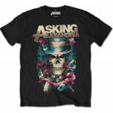 Tricou Unisex Asking Alexandria: Hat Skull