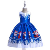 Rochita albastra - Happy Santa Claus (Marime Disponibila: 4 ani)