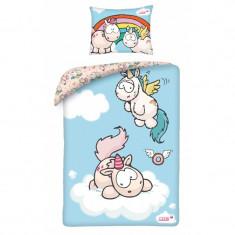 Lenjerie de pat bebelusi Cotton Nici NU-9091BL