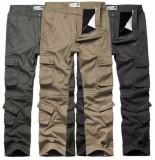 Pantaloni army negri, cargo bumbac 100% captusiti cu POLAR marimea 56